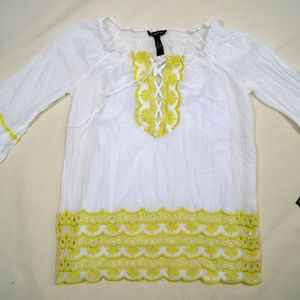 White 2-Piece Colonial-Style Women's Top Dress